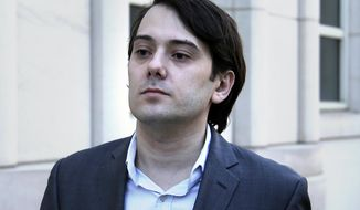 FILE- In this June 26, 2017, file photo, former Turing Pharmaceuticals CEO Martin Shkreli arrives to federal court in New York. Prosecutors filed a motion in U.S. District Court on Monday, July 3, asking that Shkreli and attorneys for all parties refrain from making statements outside court. (AP Photo/Seth Wenig, File)