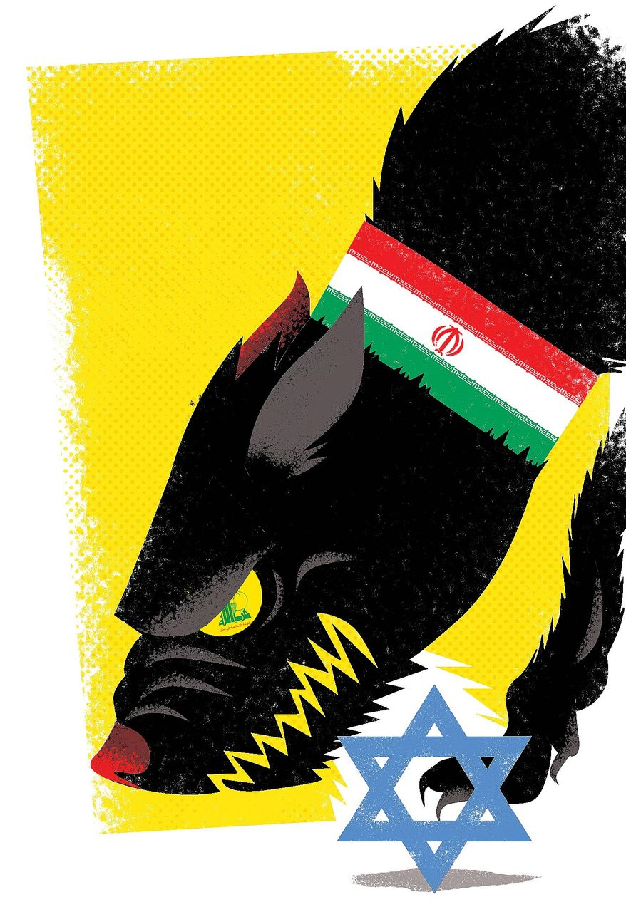 Illustration on the real beligerants in a coming Middle East war by Linas Garsys/The Washington Times
