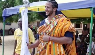 Colin Kaepernick celebrated the Fourth of July by reflecting on American slavery during a trip to Ghana. (Colin Kaepernick)