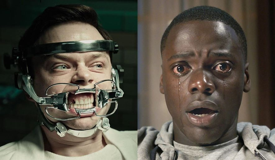 """Lockhart  (Dane DeHaan) has a dental issue in """"A Cure for Wellness"""" and Chris (Daniel Kaluuya) makes a shocking discovery in """"Get Out,"""" both available on Blu-ray."""