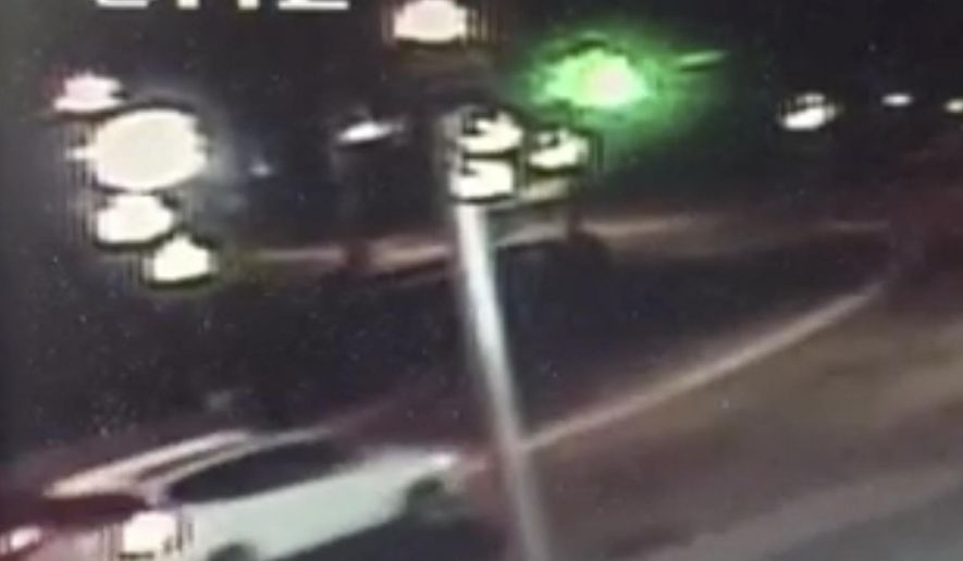 This frame from surveillance video released by the Pennsylvania State Police shows the sport-utility vehicle in Nanty Glo, Pa., troopers suspect was involved in the death of Jacob Hale late Tuesday, July 4, 2017. State police said the motorist who struck and killed Hale along a rural Pennsylvania road in Blacklick Township, Cambria County, Pa., may not have realized they hit a human being. (Nanty Glo Fire Department/Pennsylvania State Police via AP)