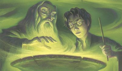 """This photo provided by Scholastic shows the book jacket of J.K. Rowling's """"Harry Potter and the Half-Blood Prince."""" Paul Finch and Rayan Jawad, owners of Growth Studio, based in London, say that lessons learned from the Harry Potter series have helped them in their business. (Mary Grand Pre/Scholastic Inc. via AP)"""