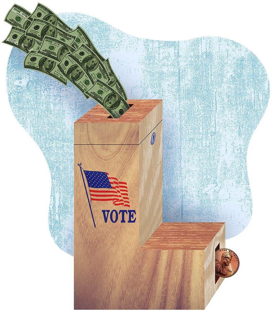 Liberal Ballot Box Illustration by Greg Groesch/The Washington Times