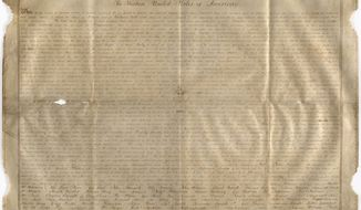 The Sussex Declaration was used to argue for proportional House membership but equal Senate representation.