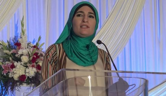 "Palestinian activist Linda Sarsour declared that standing up to tyrants is the best ""form of jihad"" during a speech to Muslims over the weekend. (YouTube)"