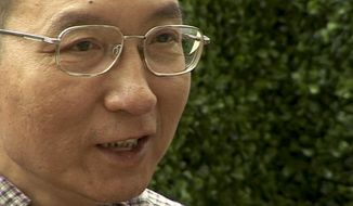 In this image taken from June 3, 2008, video, Liu Xiaobo speaks during an interview before his detention in Beijing, China. China's ailing Nobel Peace Prize laureate's health is further deteriorating as abdominal fluid accumulates, said a friend on Thursday, July 6, 2017, and the Chinese hospital that is treating him, adding to concerns about the long-term prognosis of the country's best-known political prisoner. (AP Photo)