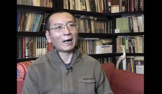 In this image taken from Jan 6, 2008, video footage by AP Video, Liu Xiaobo speaks during an interview in his home in Beijing, China. According to a statement Friday, July 7, 2017, on the website of the First Hospital of China Medical University, the Chinese medical team charged with treating imprisoned Nobel Peace laureate Liu Xiaobo has stopped using cancer-fighting drugs so as not to overwhelm his severely weakened liver, raising concerns that China's most prominent political prisoner is critically ill. (AP Video via AP)