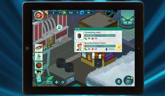 Hurry up and wait in the mobile game Futurama: Worlds of Tomorrow.
