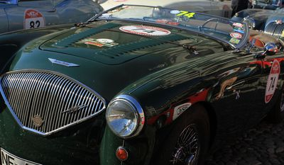 1954 Austin Healey at the 17th annual Modena Cento Ore. (Photograph by Jacquie Kubin/Special to the Washington Times)