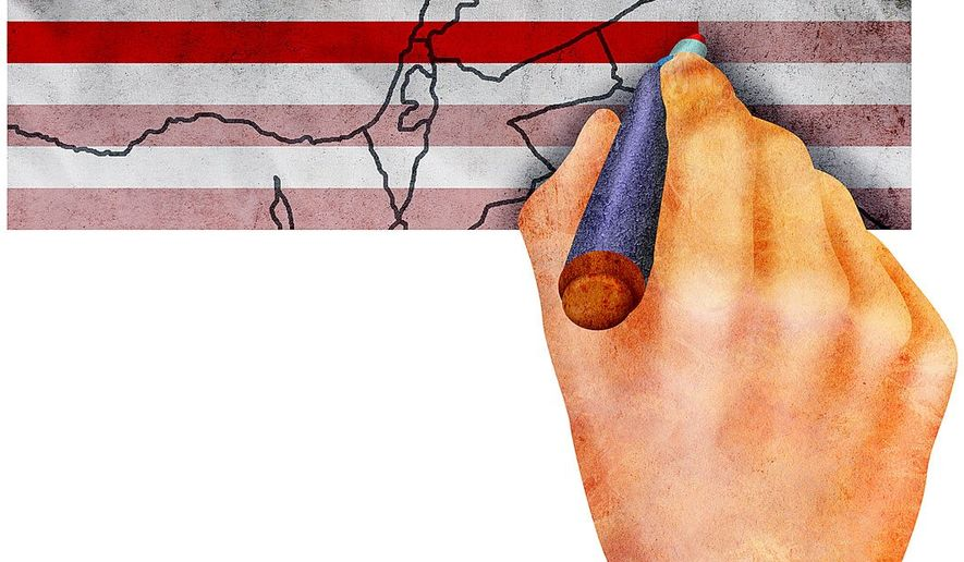 Trump's Middle East Red Line Illustration by Greg Groesch/The Washington Times