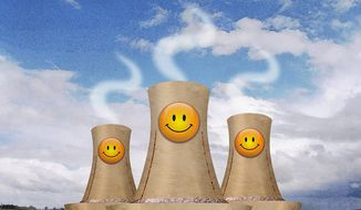 Smiley Reactor Towers Illustration by Greg Groesch/The Washington Times