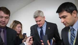 "Sen. Bill Cassidy, Louisiana Republican, called repealing Obamacare and replacing it later a ""non-starter,"" since people with pre-existing conditions won't know if they'll can secure coverage. ""It think it betrays President Trump's campaign pledges,"" he said. (Associated Press)"