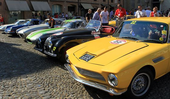 Classic supercars ready to race at the 17th annual Modena Cento Ore. (Photograph by Jacquie Kubin/Special to the Washington Times)