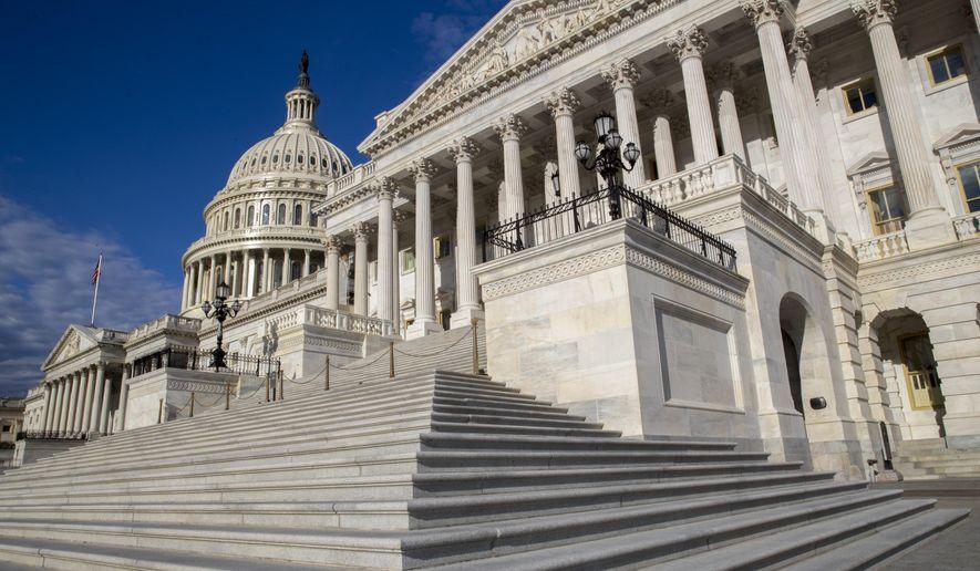 The U.S. Senate is seen on Capitol Hill in Washington. (AP Photo/J. Scott Applewhite) ** FILE **