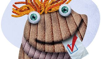 Sock Puppet Voting to Unionize Illustration by Greg Groesch/The Washington Times