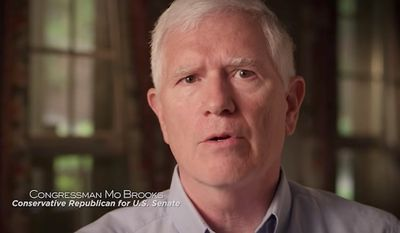 "Rep. Mo Brooks vowed to fight ""every spending bill that doesn't fund"" President Trump's proposed border wall in a Senate campaign ad released Monday. (Mo Brooks for Senate Committee)"