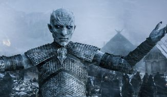"HBO's ""Game of Thrones"" depicts a world with magic, dragons and deadly supernatural White Walkers. (HBO via AP) ** FILE **"
