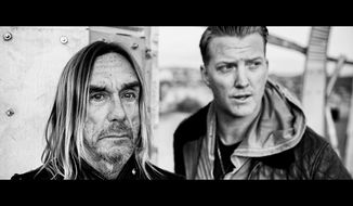 "Iggy Pop (left) and Joshua Homme in a scene from ""American Valhalla.""  (YouTube)"