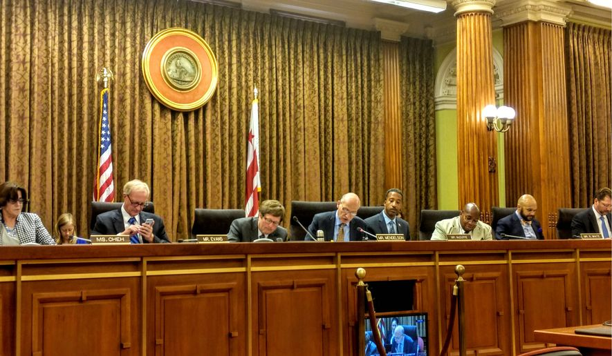 The D.C. Council voted unanimously Tuesday to bar city agencies from providing voting information requested by President Trump's election integrity commission. The District joins a number of states that have rebuffed the request over privacy concerns. (Emma Ayers / The Washington Times)