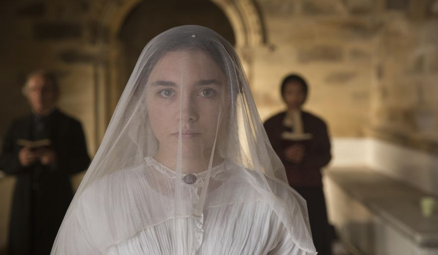 "This image released by Roadside Attractions shows Florence Pugh in ""Lady Macbeth."" (Laurie Sparham/Roadside Attractions via AP)"