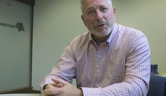 Milwaukee businessman and entrepreneur Andy Gronik tells The Associated Press he plans to run for Wisconsin governor in 2018 during an interview on Monday, July 10, 2017, in Madison, Wisc. Gronik plans to officially launch his candidacy Tuesday in what could be a crowded Democratic primary. (AP Photo by Scott Bauer)