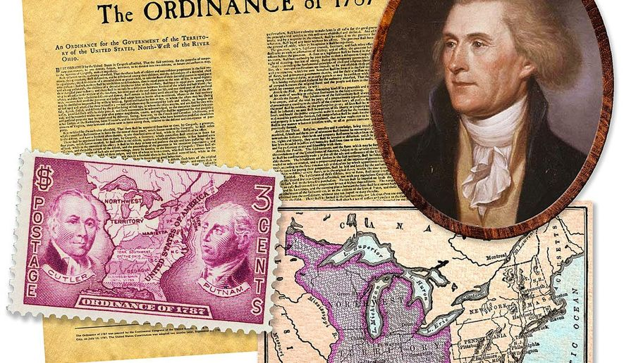Illustration on the Northwest Ordinance by Greg Groesch/The Washington Times
