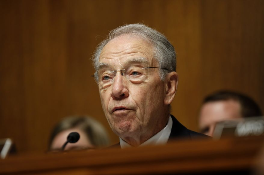 Senate Judiciary Committee Chairman Chuck Grassley, Iowa Republican (Associated Press) **FILE**