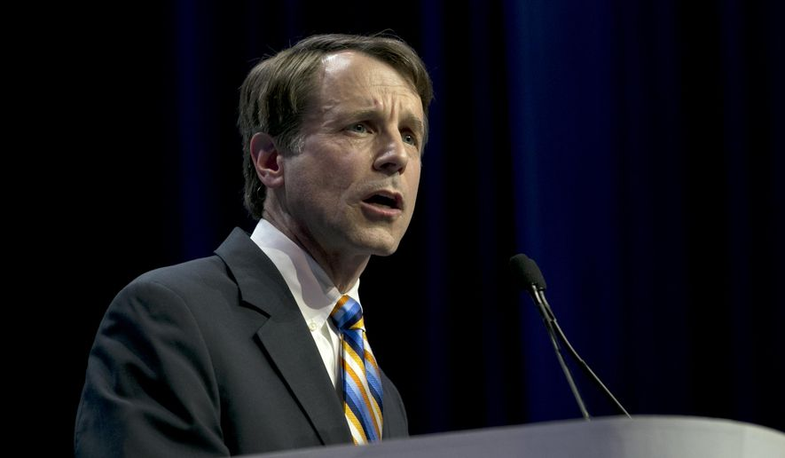 FILE - In this Saturday, May 20, 2017, file photo, California Insurance Commissioner Dave Jones speaks during the California Democratic Party Convention in Sacramento, Calif. Jones on Wednesday, July 12, said that he was a passenger on an Air Canada jet that nearly landed on a taxiway where four other planes were sitting rather than the designated runway at San Francisco International Airport. (AP Photo/Rich Pedroncelli, File)