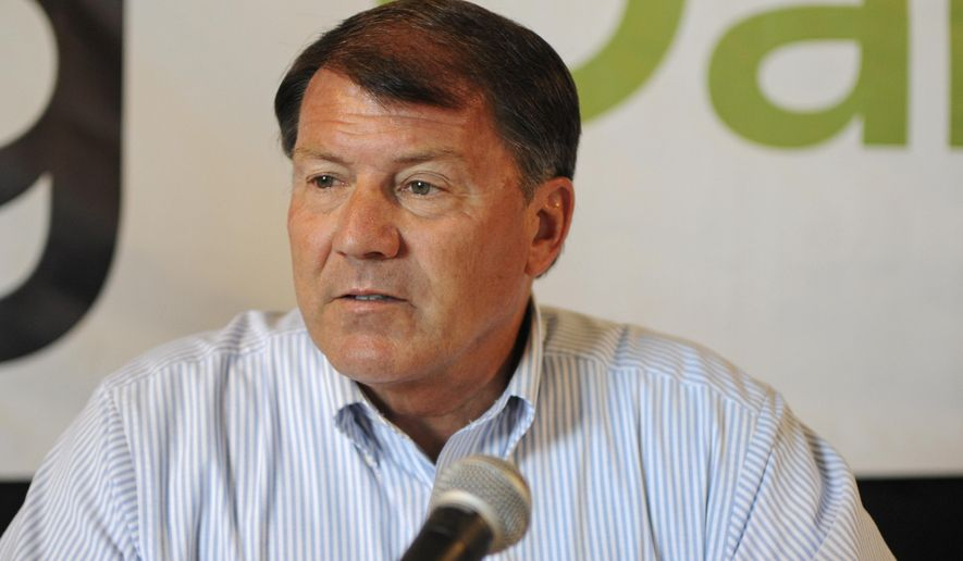 FILE - In this Aug. 17, 2016, file photo, U.S. Sen. Mike Rounds, R-S.D., attends a forum with South Dakota's congressional delegation in Mitchell, S.D. Rounds said Wednesday, July 12, 2017, that changes expected to be unveiled in a revised Senate Republican health care bill will help improve the proposal. (AP Photo/James Nord, File)
