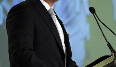 Missouri NCAA college football coach Barry Odom speaks during the Southeastern Conference's annual media gathering, Wednesday, July 12, 2017, in Hoover, Ala. (AP Photo/Butch Dill)
