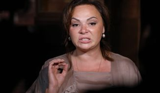 Kremlin-linked lawyer Natalia Veselnitskaya admits she met with Donald Trump Jr. in 2016, but says she had no compromising information on Hillary Clinton. (Associated Press)