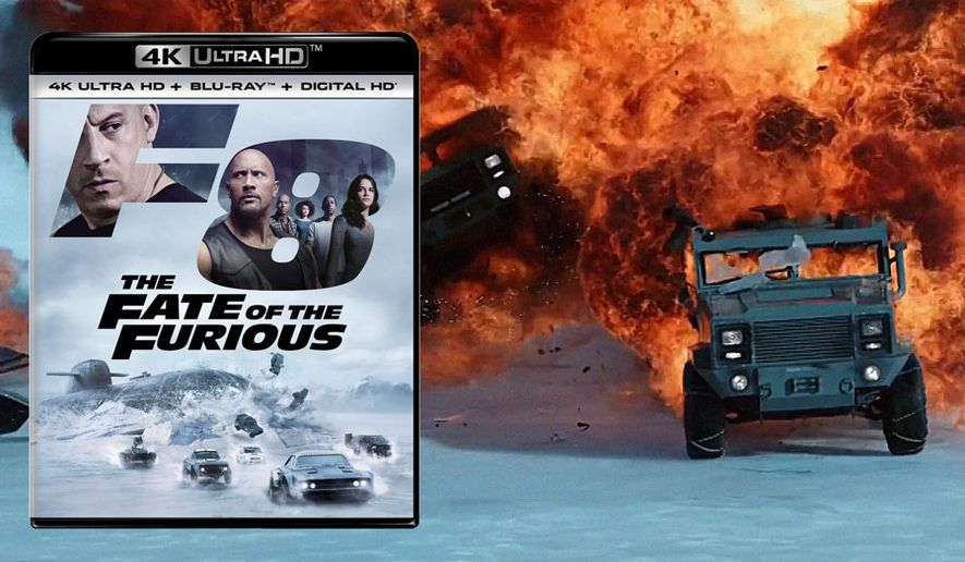 "Vehicles crash and explode often in ""The Fate of the Furious,"" now available on 4K Ultra HD from Universal Studios Home Entertainment."