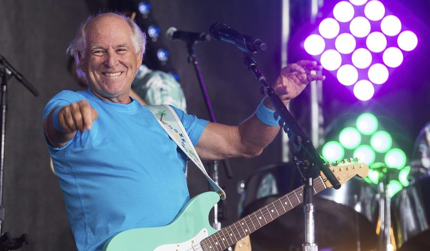 """Jimmy Buffett performs on NBC's """"Today"""" show in New York. (Photo by Charles Sykes/Invision/AP, File)"""