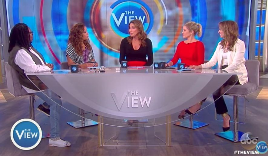 "Caitlyn Jenner said she's working with the Republican Party ""behind the scenes"" on LGBT issues, revealing on ABC's ""The View"" that she had a meeting scheduled with United Nations Ambassador Nikki Haley. (ABC)"