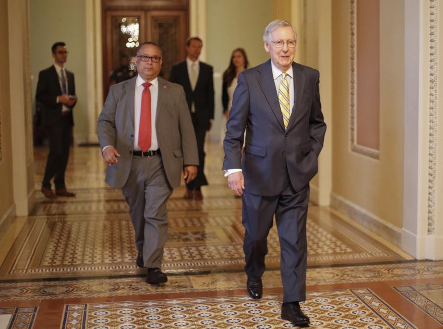 """This is our chance to bring about changes we've been talking about since Obamacare was forced on the American people,"" said Majority Leader Mitch McConnell, Kentucky Republican. (Associated Press/File)"