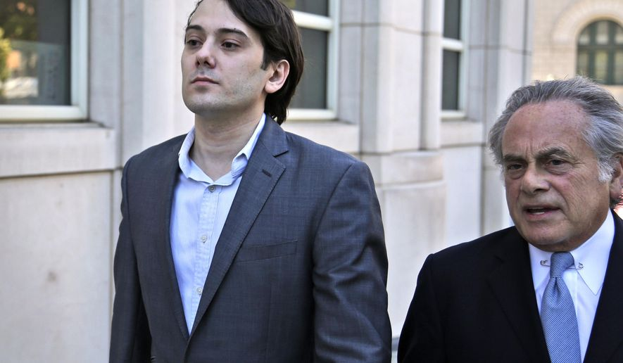 "FILE - In this June 26, 2017, file photo, former Turing Pharmaceuticals CEO Martin Shkreli, left, arrives at federal court with his attorney Benjamin Brafman in New York. The jury at the securities fraud trial of ""Pharma Bro"" Martin Shkreli has heard investors accuse the quirky former biotech CEO of repeatedly giving them the runaround when they tried to pull their money out of his failing health care hedge fund. But the government witnesses have made a concession that the defense hopes plays in its favor: In the end, they made a killing. (AP Photo/Seth Wenig, file)"