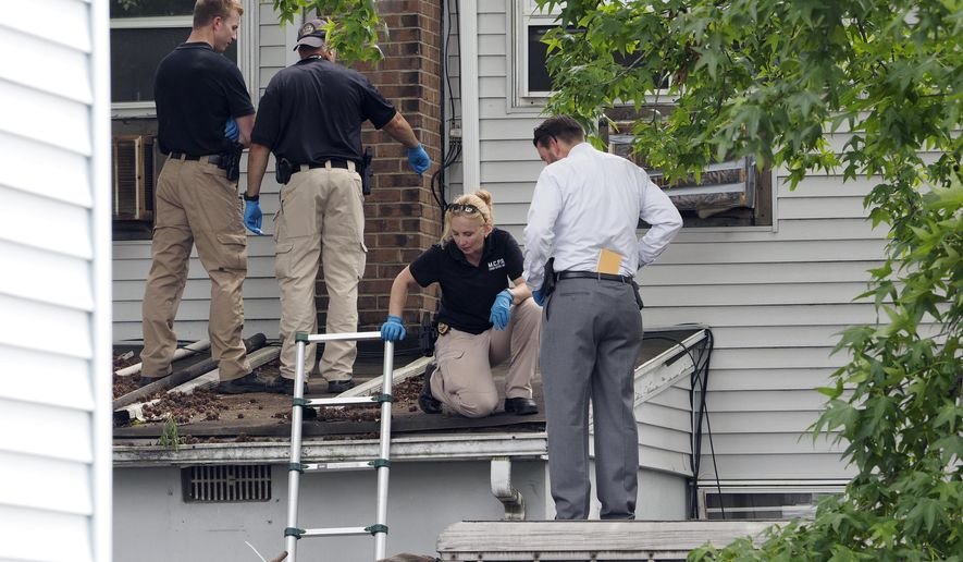 "Investigators work at the scene where the body of 11-year-old Abbiegail ""Abbie"" Smith was found Thursday, July 13, 2017, in Keansburg, N.J. Authorities in New Jersey say the11-year-old girl reported missing was found dead near her apartment complex, and police are investigating her death as a homicide. (Patti Sapone/NJ Advance Media via AP)"