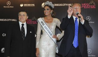 The 2013 Moscow staging of the Trump-owned Miss Universe pageant has become part of Robert Mueller's investigation into the president's past business dealings. (Associated Press/File)