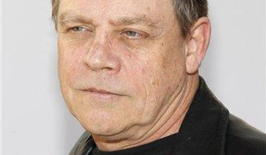 """FILE - In this Dec. 10, 2011, file photo, Mark Hamill arrives at Spike TV's Video Game Awards in Culver City, Calif. Hamill and Carrie Fisher were named """"Disney Legends"""" during a ceremony Friday, July 14, 2017, at the company's D23 Expo in Anaheim, Calif. (AP Photo/Joe Kohen, File)"""