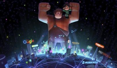 "This image provided by Walt Disney Animation Studios and Pixar Animation Studios shows a scene from the animated sequel film, ""Wreck-It Ralph 2."" John Lasseter, the chief creative officer of Pixar and Walt Disney Animation Studios, led a presentation of the upcoming animation slate, including ""Wreck-It Ralph 2,"" for the studio Friday, July 13, 2017, at the star-studded biannual fan convention D23 in Anaheim., Calif. (Walt Disney Animation Studios and Pixar Animation Studios via AP)"
