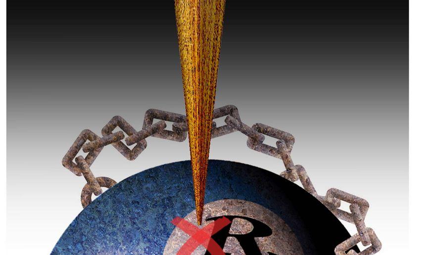 Illustration on the Cruz Amendment by Alexander Hunter/The Washington Times