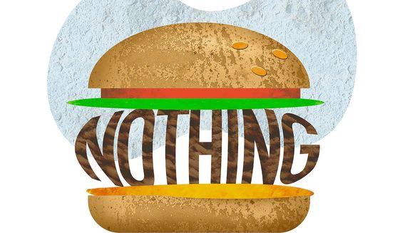 Nothing Burger Illustration by Greg Groesch/The Washington Times