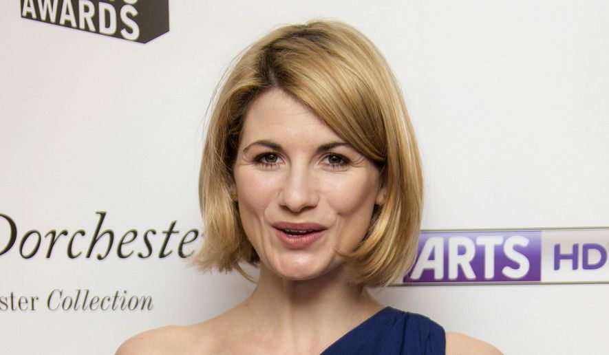 "In this file photo dated Monday, Jan. 27, 2014, British actress Jodie Whittaker, who starred in TV series Broadchurch, arrives for South Bank Sky Arts Awards 2014, held at the Dorchester hotel in central London. The BBC has announced Sunday July 16, 2017,  Jodie Whittaker is the next star of the long-running science fiction TV series ""Doctor Who"" set to become the first woman to take the leading title role.  (FILE Photo by Joel Ryan/Invision/AP)"