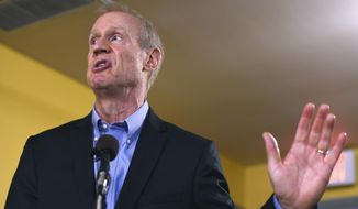 In this July 5, 2017 file photo Illinois Gov. Bruce Rauner speaks during a news conference in Chicago. (AP Photo/G-Jun Yam, File)