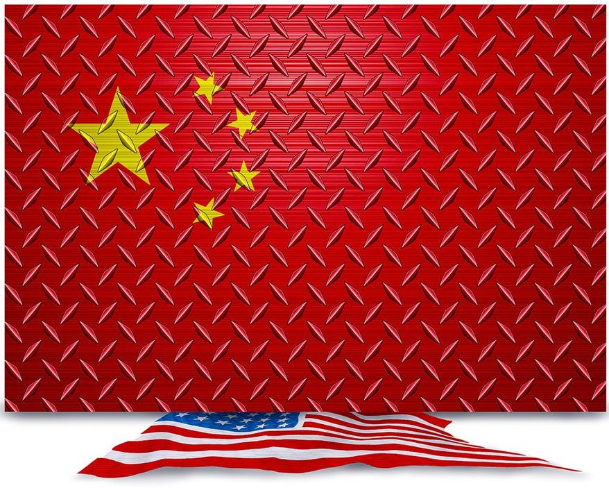 China Steel Dumping Illustration by Greg Groesch/The Washington Times