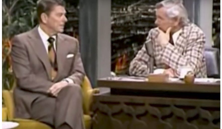 Ronald Reagan on the Tonight Show in 1975          The Washington Times