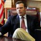A privacy group is suing Kansas Secretary of State Kris W. Kobach and President Trump's commission on election fraud after Mr. Kobach requested states turn over names and other public information on voters. (Associated Press) ** FILE **