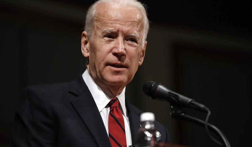 Former Vice President Joe Biden speaks during an event to formally launch the Biden Institute at the University of Delaware, in Newark, Delaware, March 13, 2017. (AP Photo/Patrick Semansky) ** FILE **