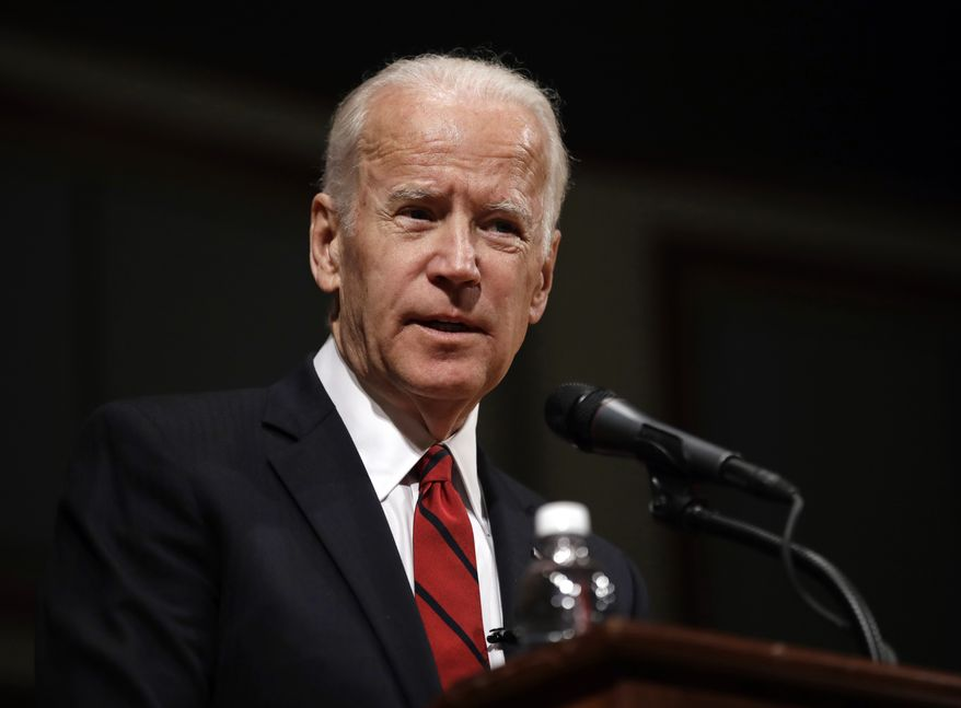 Former Vice President Joe Biden speaks during an event to formally launch the Biden Institute at the University of Delaware, in Newark, Delaware, March 13, 2017. (AP Photo/Patrick Semansky) ** FILE **