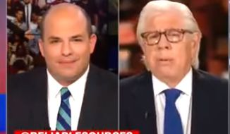 """Carl Bernstein of Watergate fame, right, told CNN's """"Reliable Sources"""" on July 16, 2017, that America was in the midst of a """"cold civil war."""" (CNN screenshot)"""